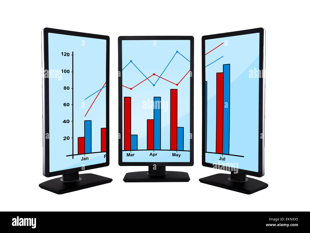 panels with graphic - Stock Image
