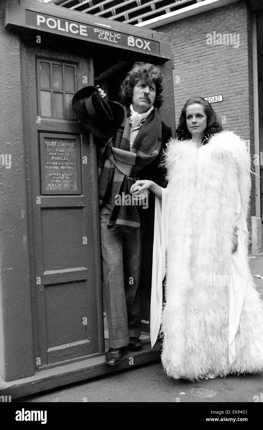 Mary Tamm is to join 'Dr. Who' in his adventures when the long-running series returns to BBC-1 in September. - Stock Image