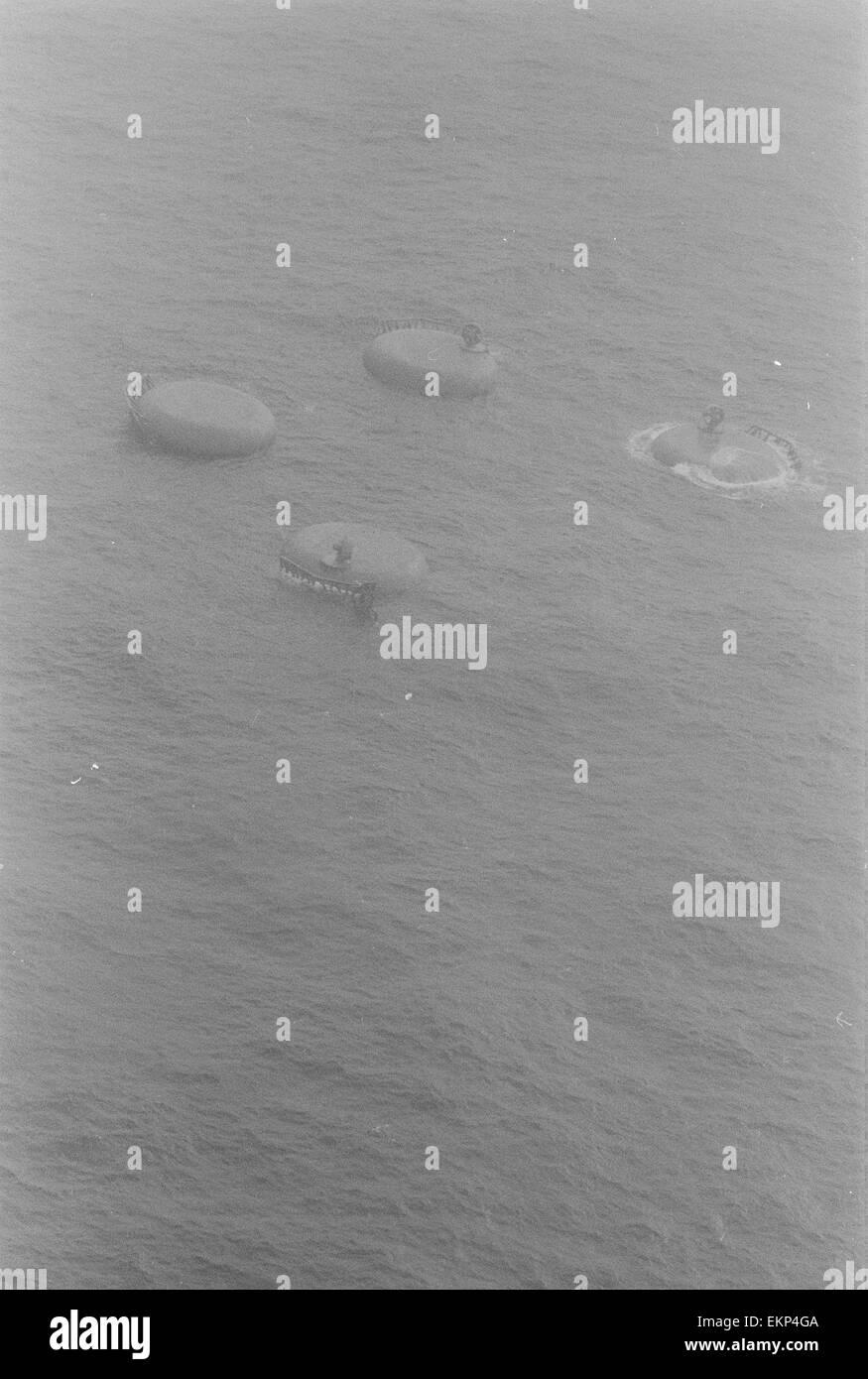 Alexander Kielland Disaster March 1980. The Alexander Kielland was a Norwegian semi submersible drilling rig that - Stock Image