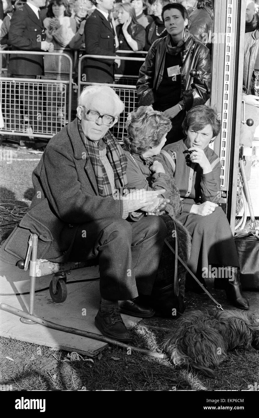Labour leader Michael Foot at a Campaign for Nuclear Disarmament Rally in London. 23rd October 1983. - Stock Image