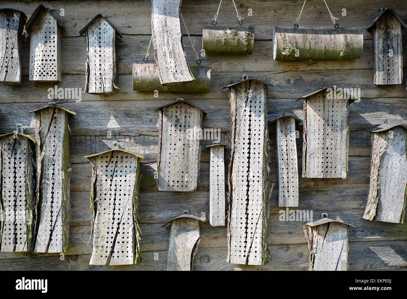 Bug hotel, Germany, city of Osterode, 10. April 2015. Photo: Frank May/picture alliance Stock Photo