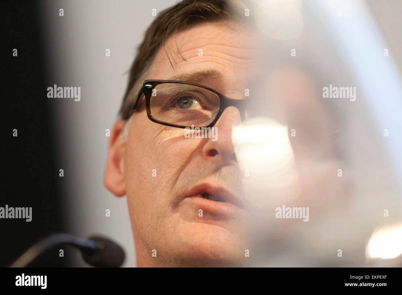Economy Debate at The National Gallery, Edinburgh Mike Crockart MP (Scottish Liberal Democrats) - Stock Image