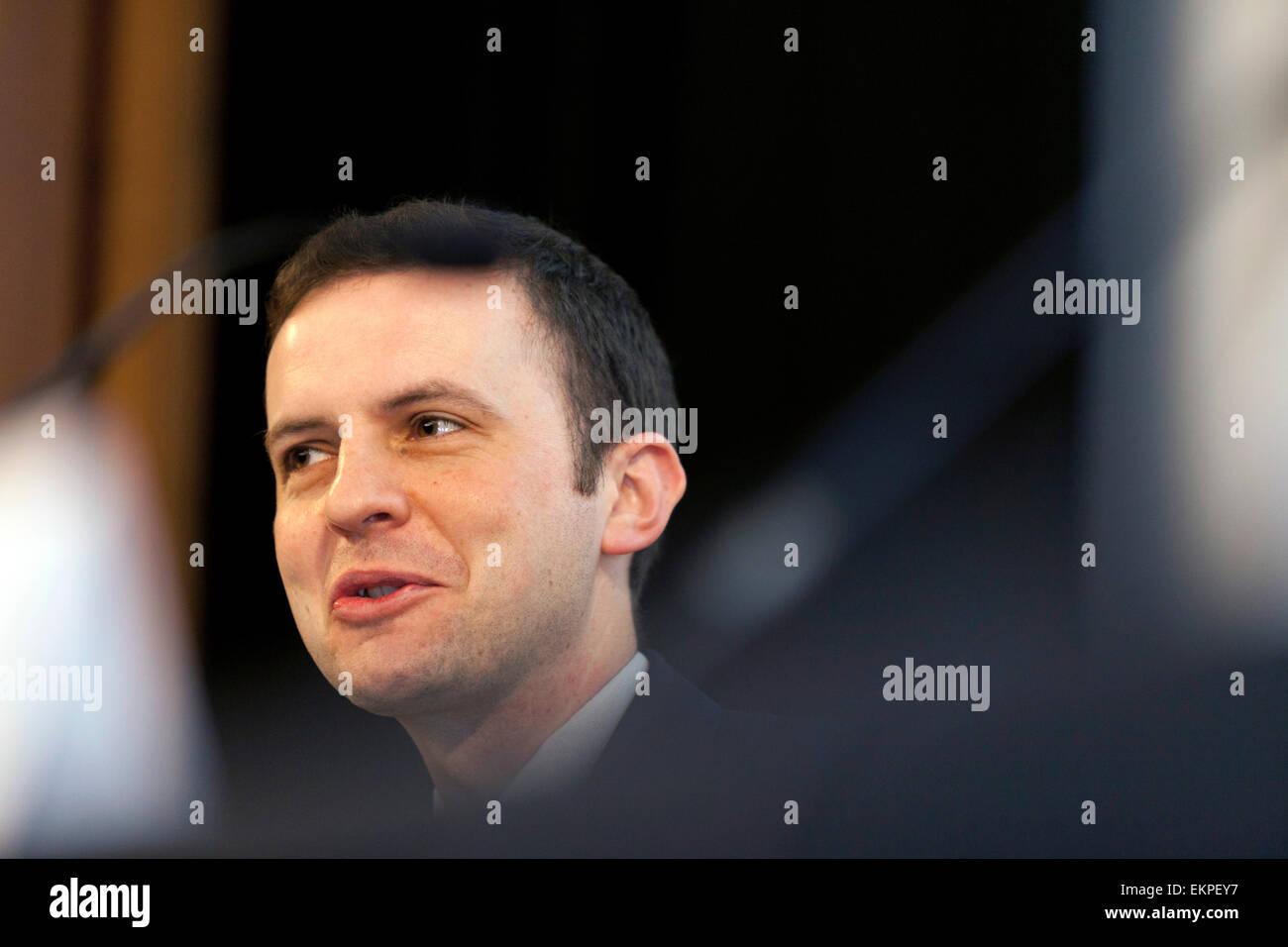 Economy Debate at The National Gallery, Edinburgh Stephen Gethins (SNP) - Stock Image