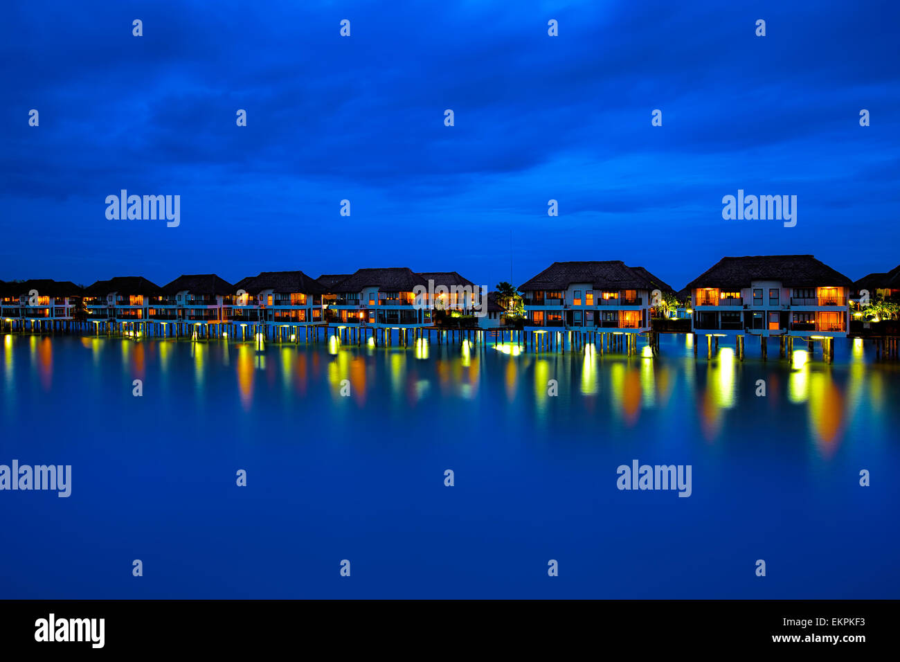 Water villas Stock Photo
