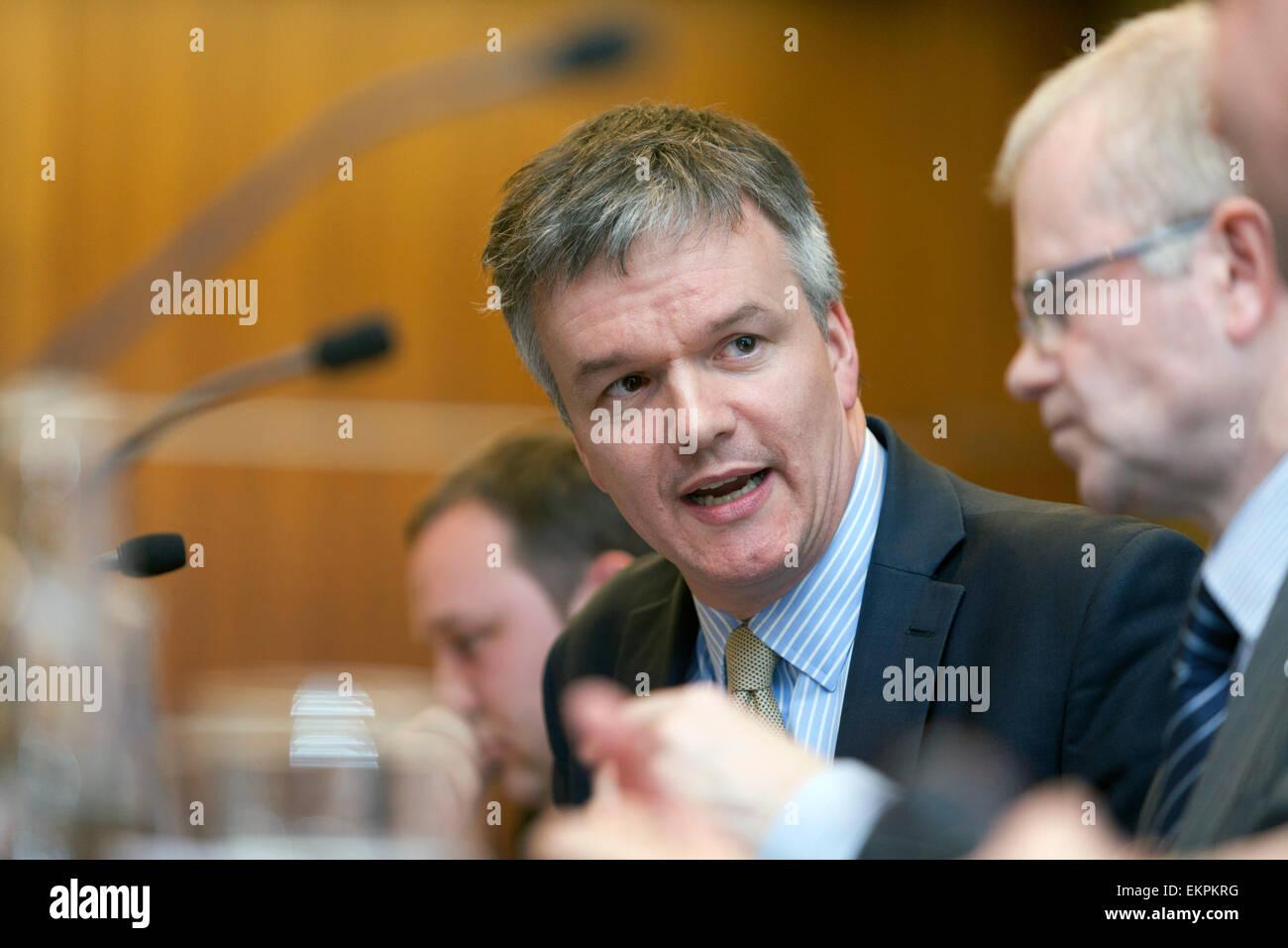 Hustings event, Edinburgh Michael Moore MP (Liberal Democrats), former Secretary of State for Scotland - Stock Image