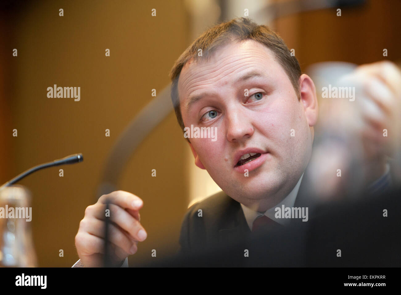 Hustings event, Edinburgh Ian Murray MP (Labour), Shadow Minister for Trade and Investment - Stock Image
