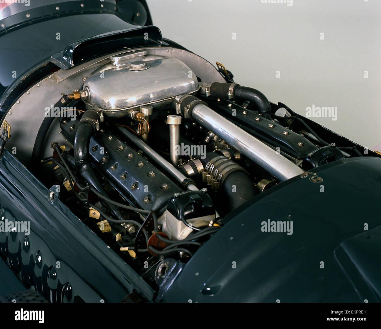 1950 BRM V16 engine - Stock Image