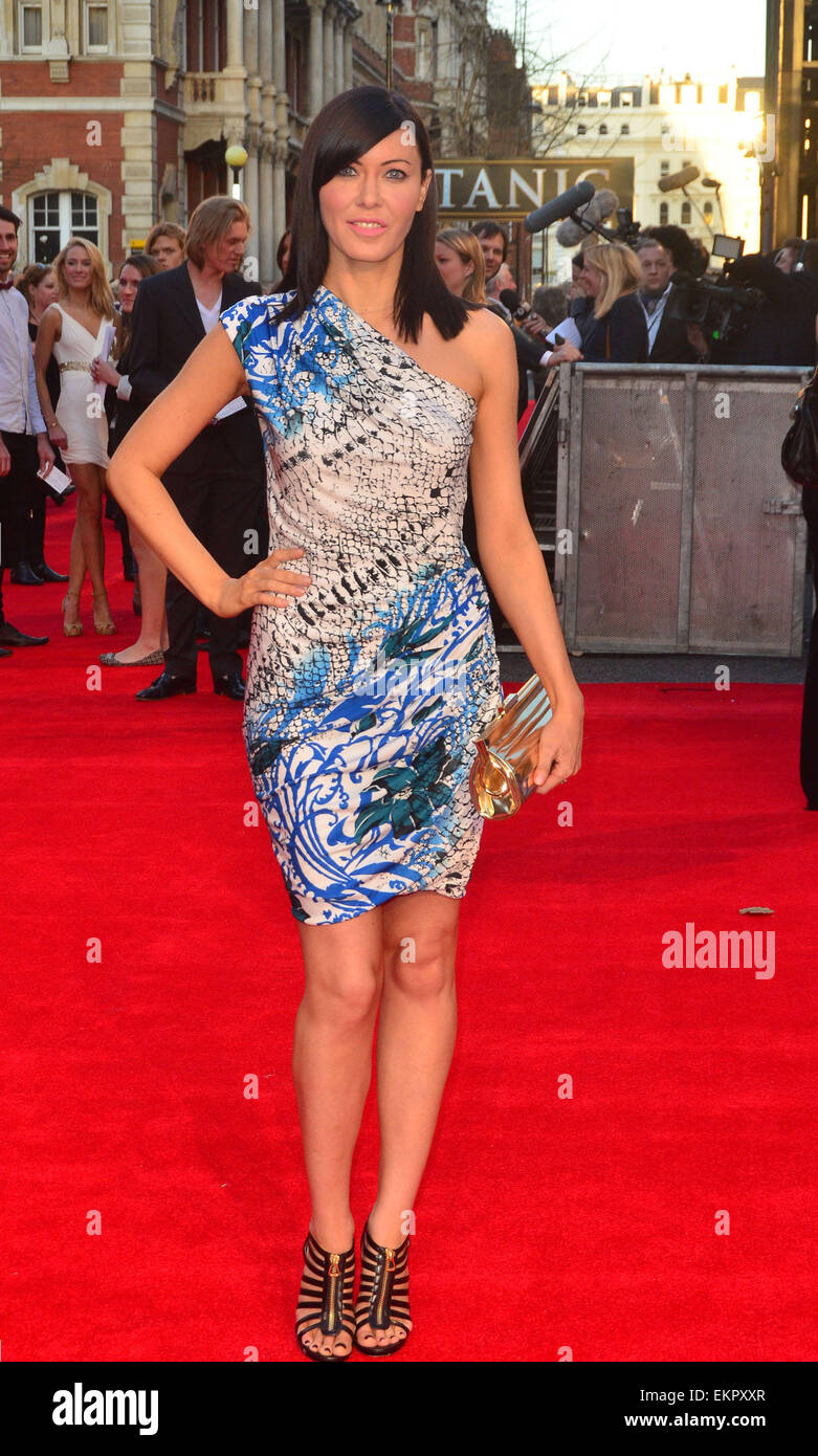 27.MARCH.2012. LONDON  LINZI STOPPARD AT THE TITANIC 3D PREMIERE HELD AT THE ROYAL ALBERT HALL IN KENSINGTON, LONDON - Stock Image