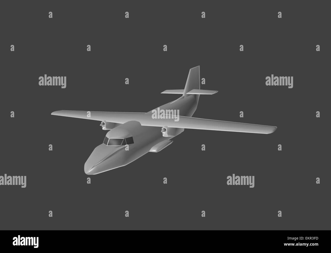 airplane, 3d, model, plane, aircraft, aeroplane, isolated, aviation, air, flight, transportation, black, technology, - Stock Image