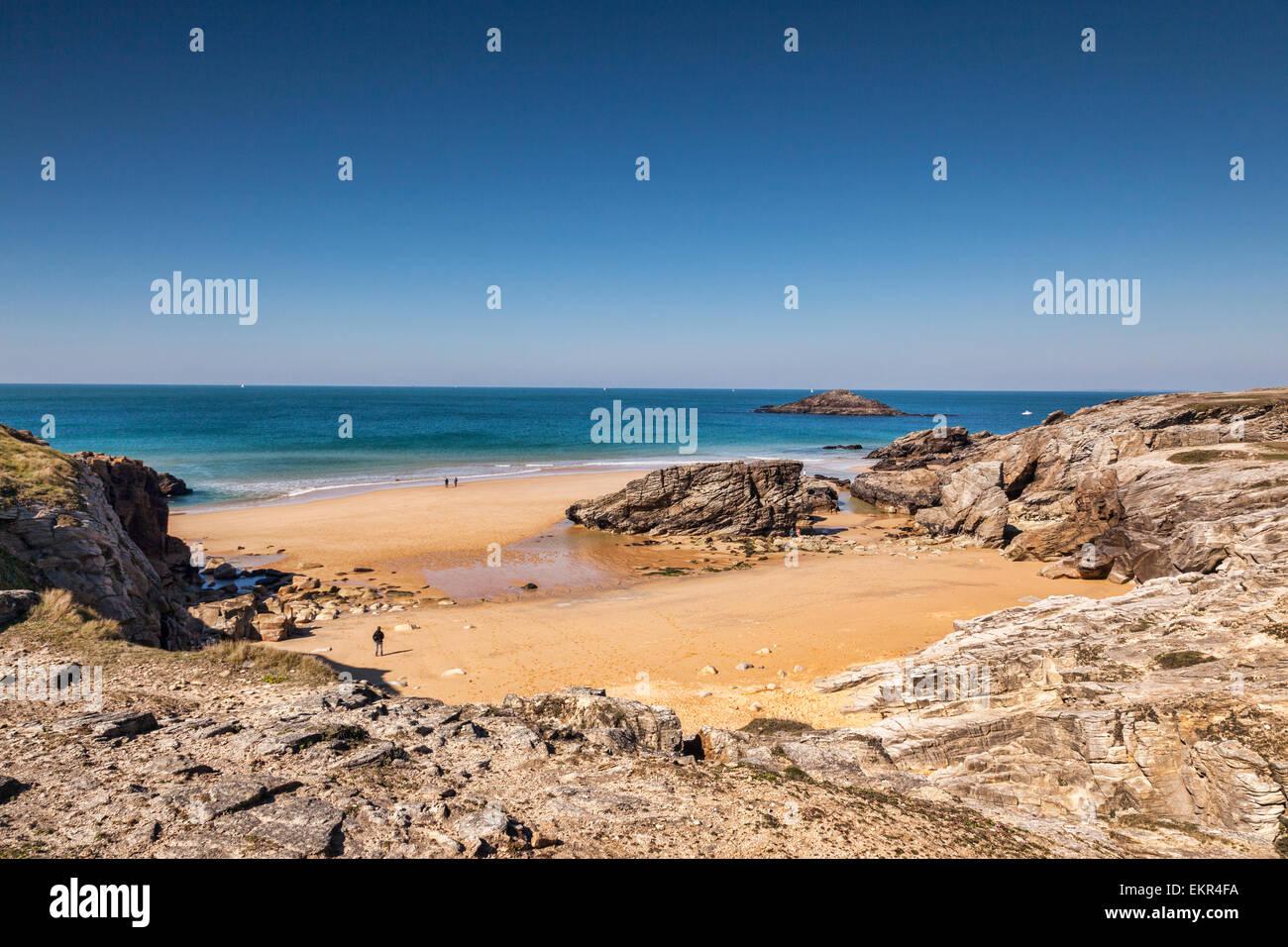 Port Bara, Quiberon Peninsula, Brittany, France. - Stock Image