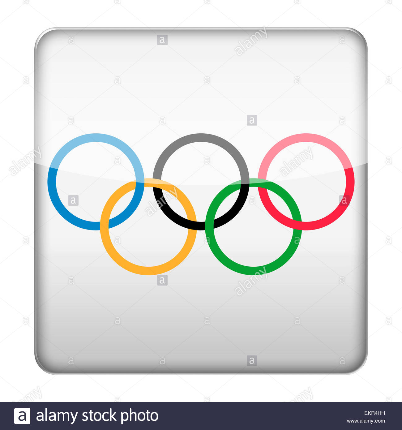 Olympic logo icon - Stock Image
