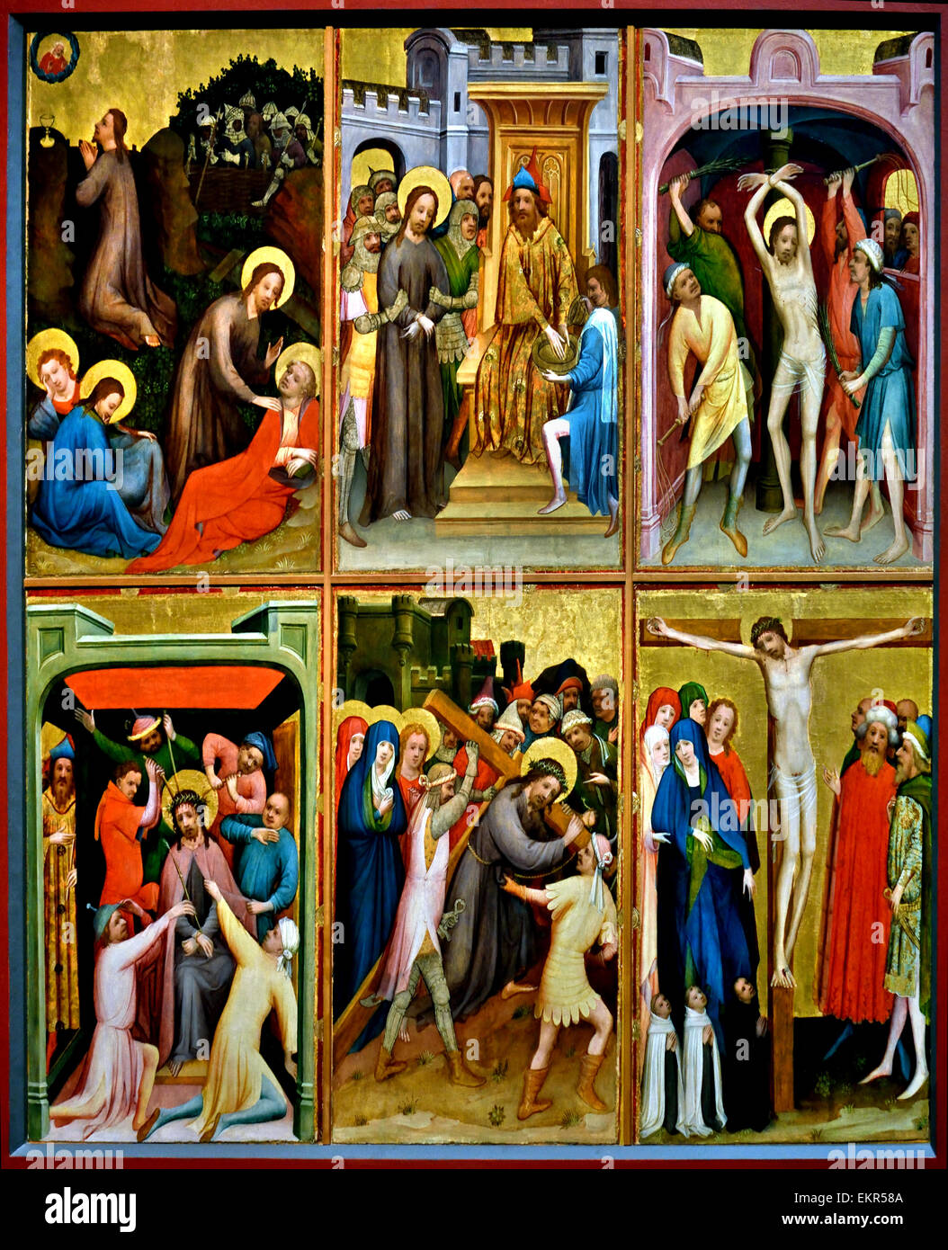 Passion of Christ 1425 Meister von ST Laurenz Köln - Master of saint Laurenz Cologne 1415-1430 German Germany - Stock Image