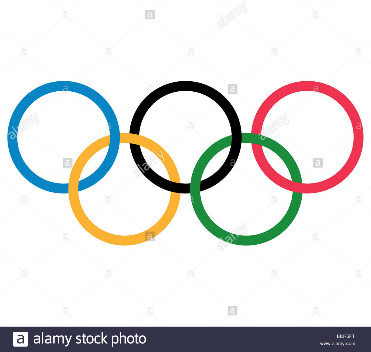 Olympic logo icon symbol - Stock Image