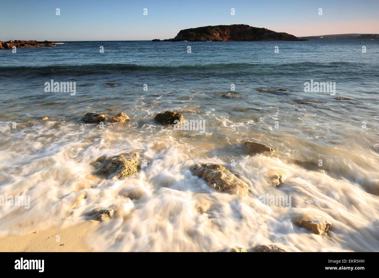 Portals Nous beach sunset Majorca - Stock Image