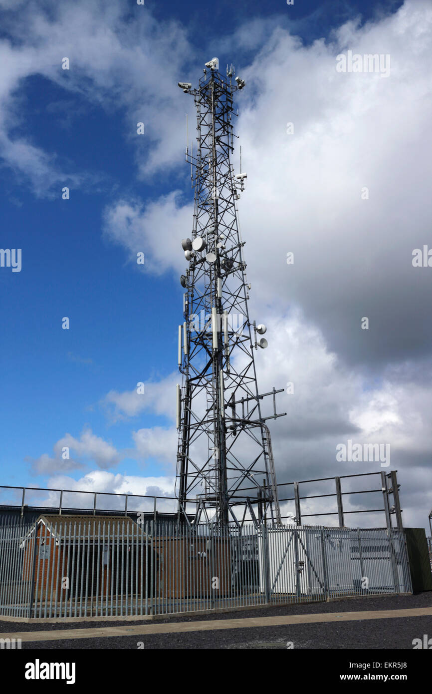 former british army now telecommunications mast castle hill dungannon county tyrone northern ireland - Stock Image