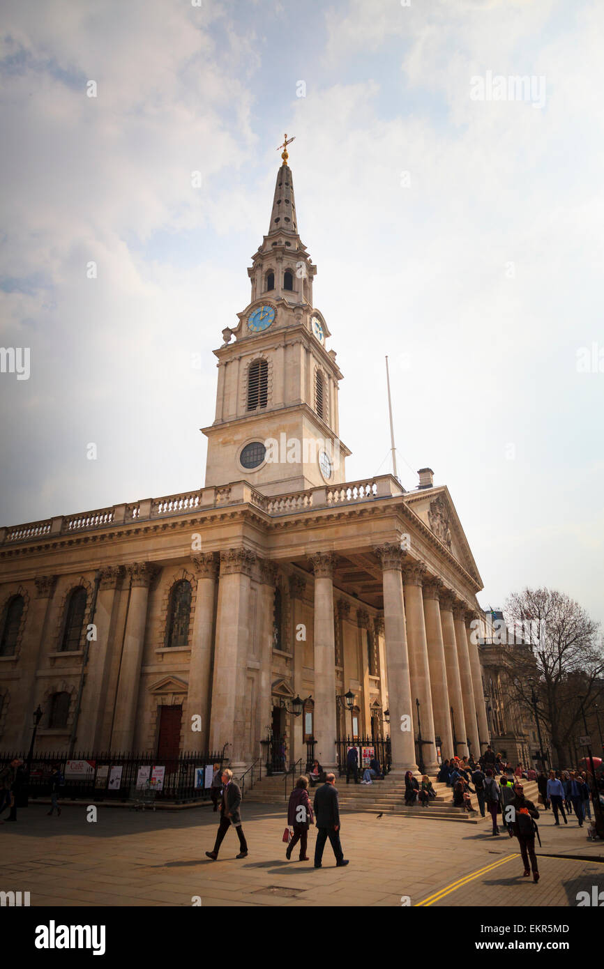 Exterior of Saint Martin-in-the-fields church in London Stock Photo