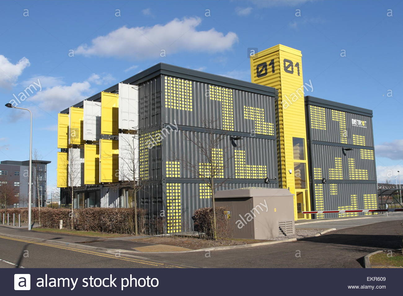 shipping container office building. Building 01 District 10 Office Development Built From Recycled Shipping Containers Dundee Scotland April 2015 Container L