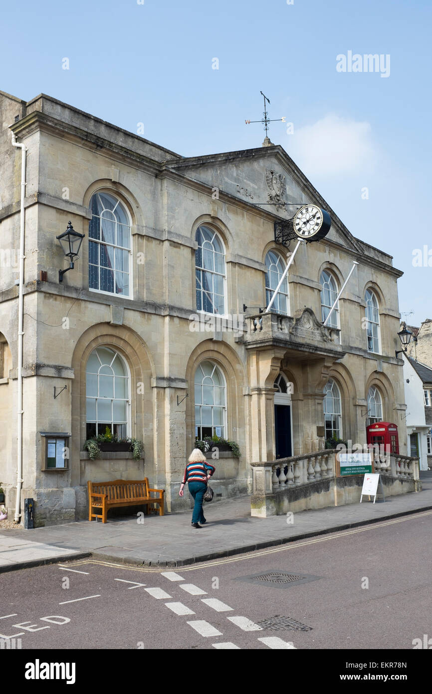 Old Town Hall Corsham Wiltshire Stock Photo