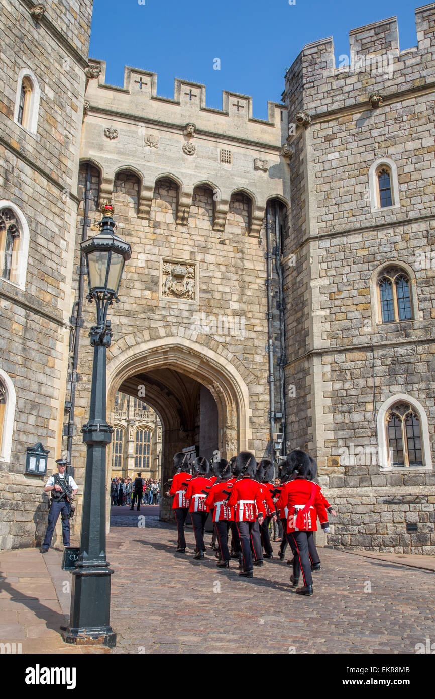 Changing of the Guard at Windsor Castle, Windsor, England - Stock Image