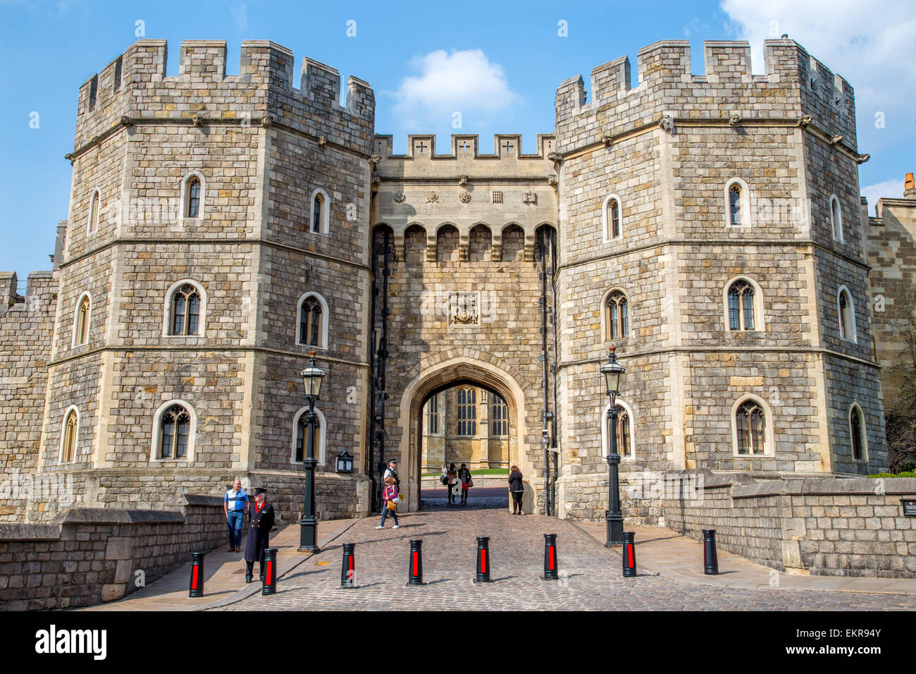 Henry VIII gateway of Windsor Castle, Windsor, England - Stock Image