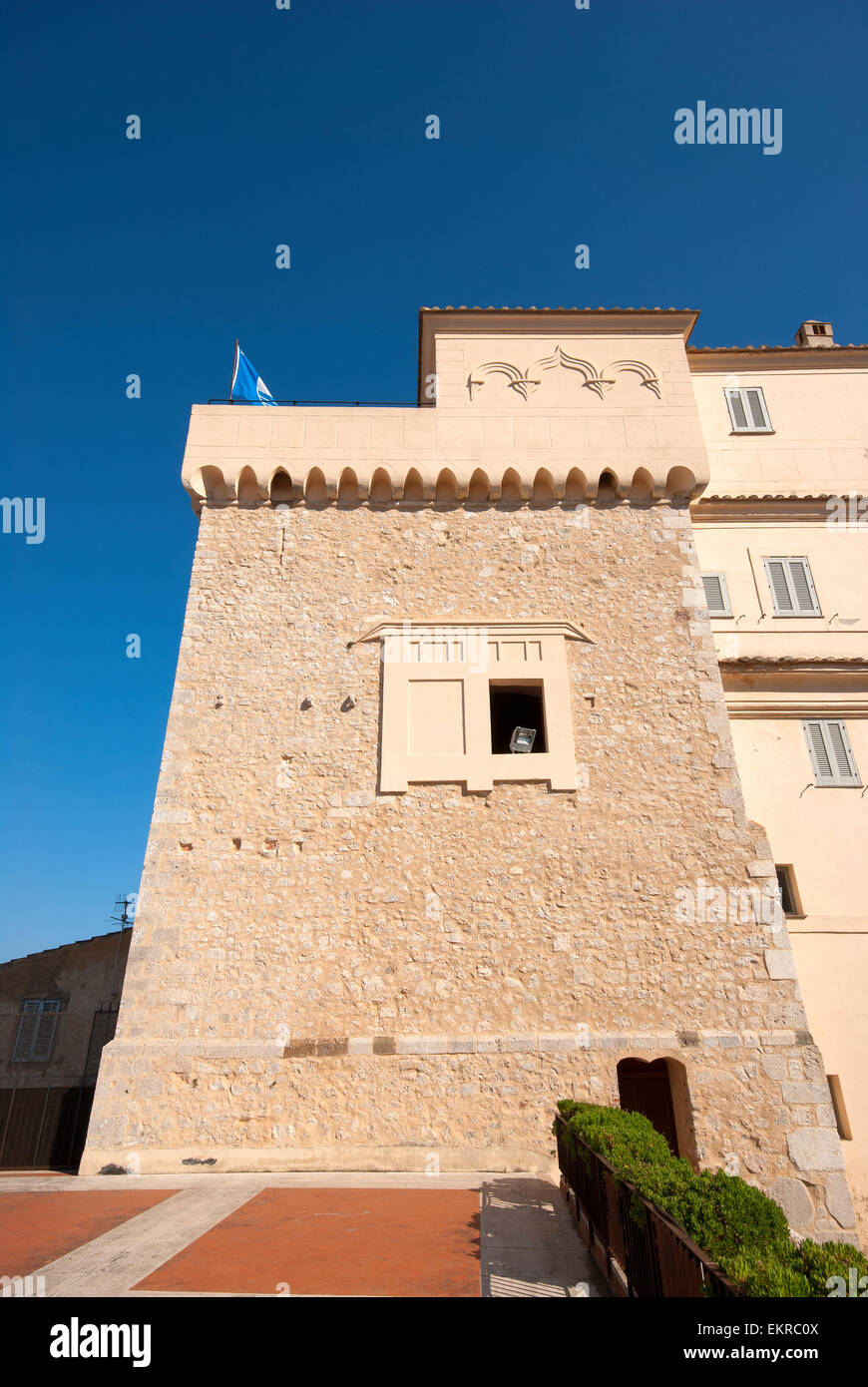 San Felice Circeo,Tower of Templar Knights, Lazio, Italy Stock Photo