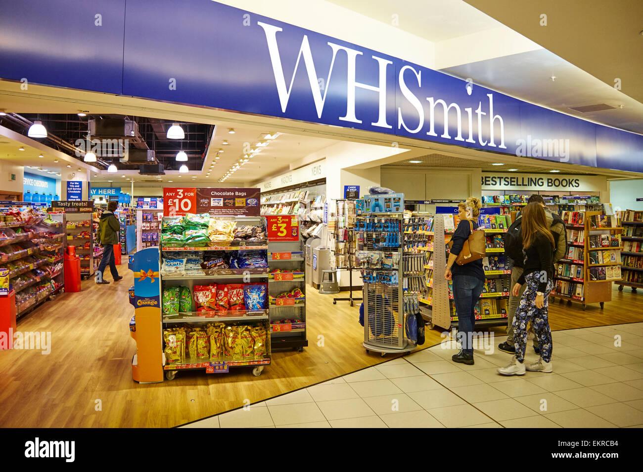 WH Smith Duty Free Store Birmingham Airport UK - Stock Image