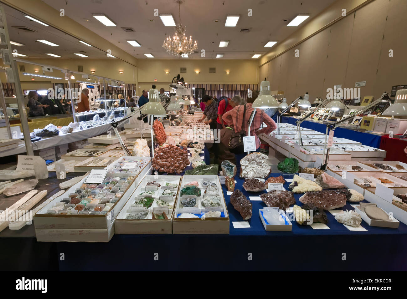 Tucson Gem and Mineral Show, Tucson, Arizona - Stock Image