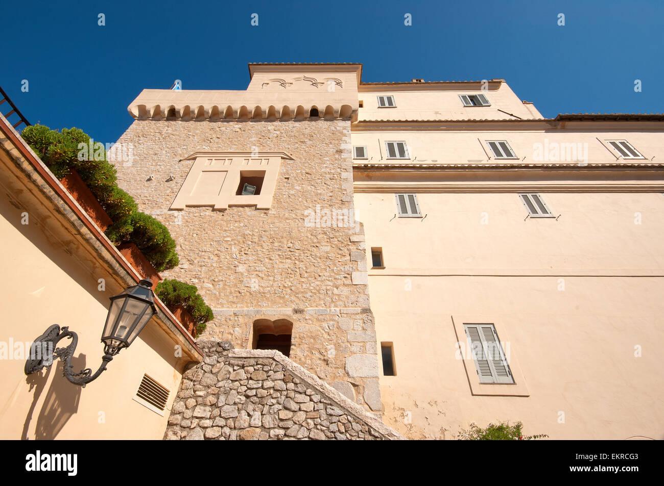 San Felice Circeo,Tower of Templar Knights, Lazio, Italy - Stock Image