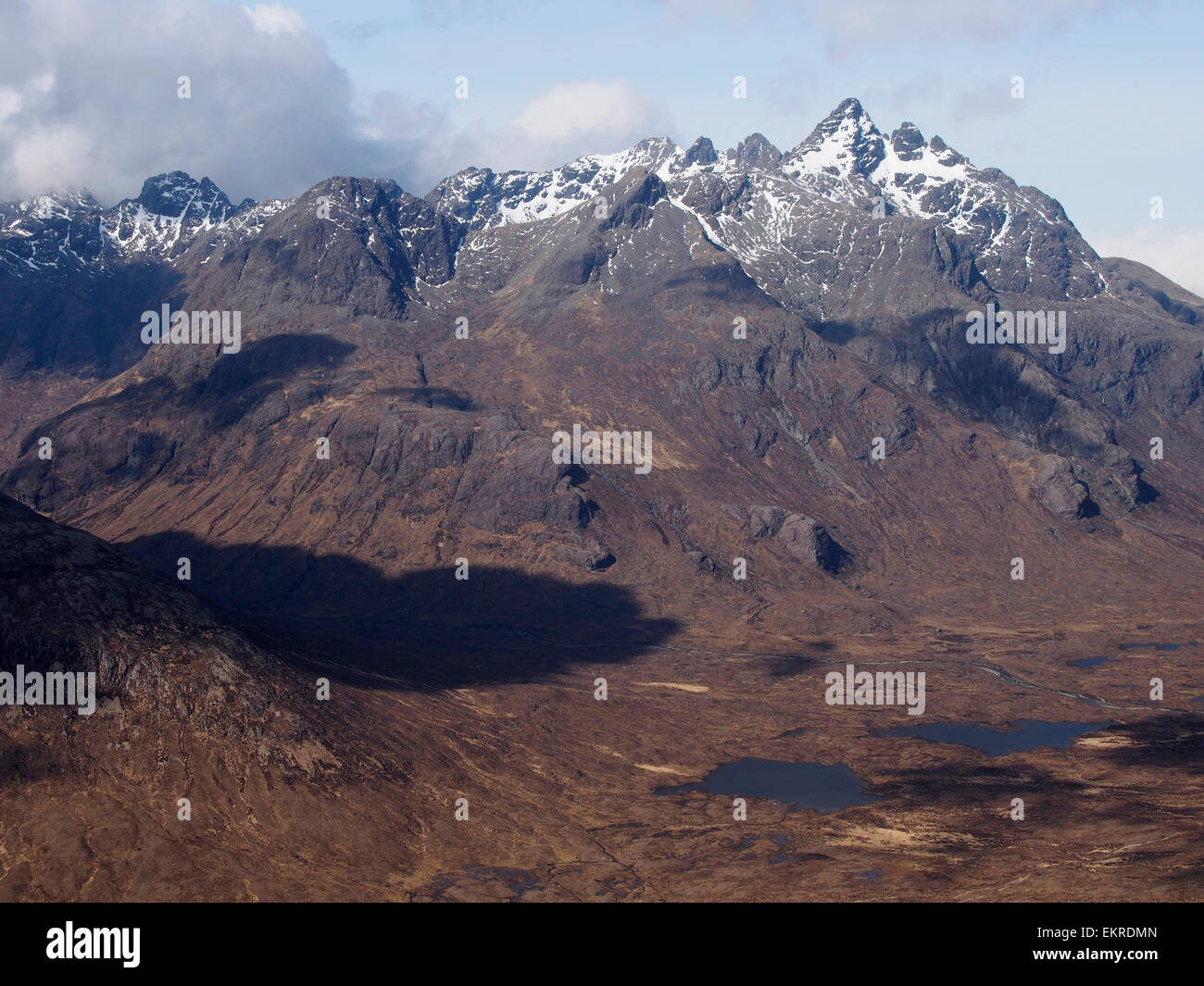 Black Cuillin from Stac Ruadh, Skye, Scotland - Stock Image