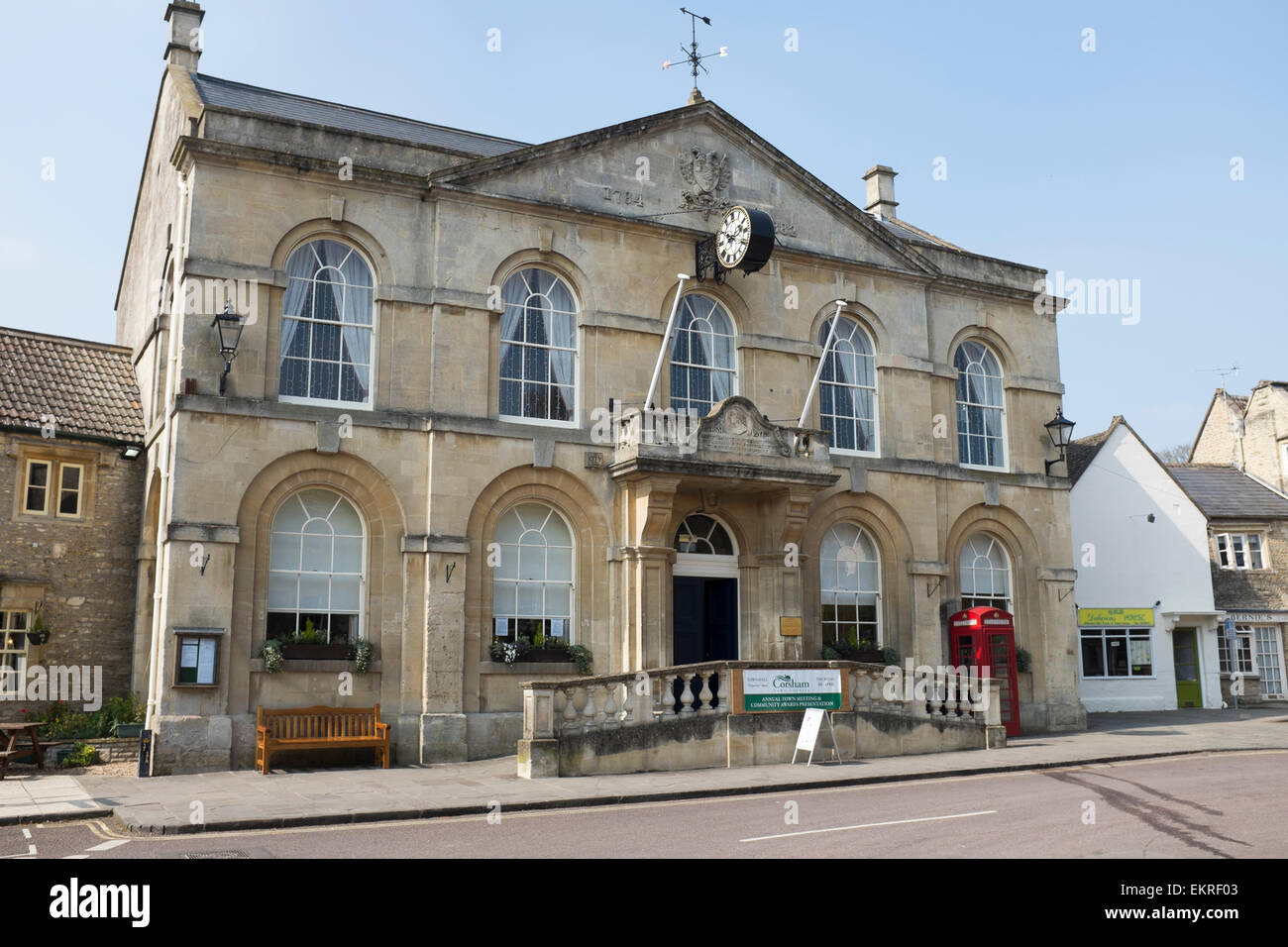 Town Hall Corsham in Wiltshire Stock Photo