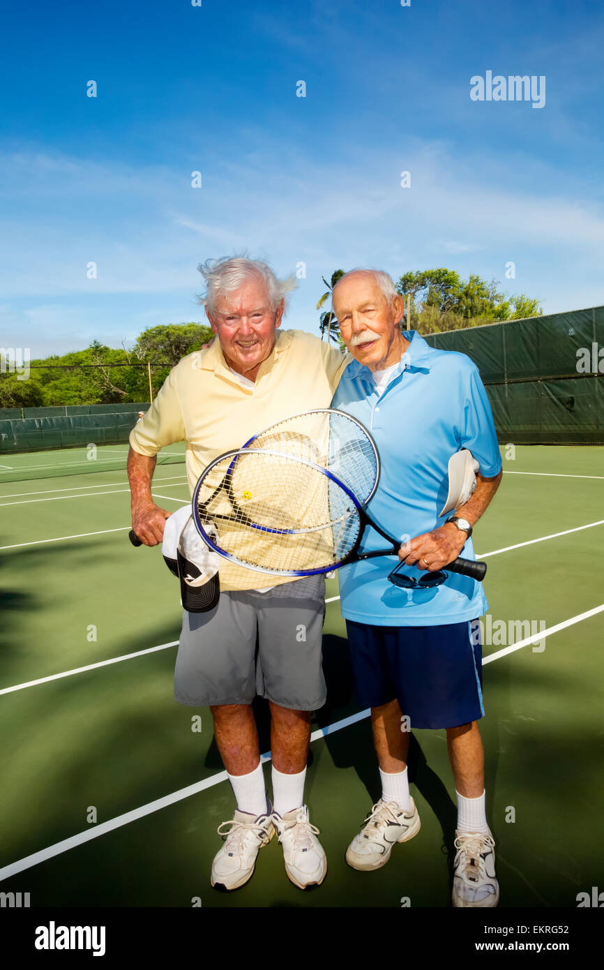 after playing tennis, 83 year old