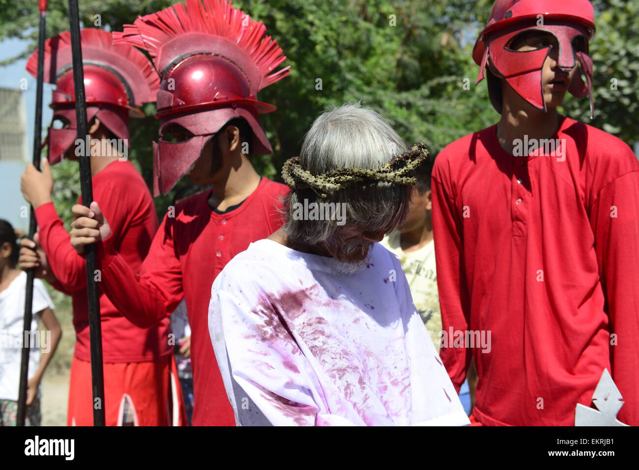 'Good Friday' Crucifixions in Pampanga, Philippines. - Stock Image