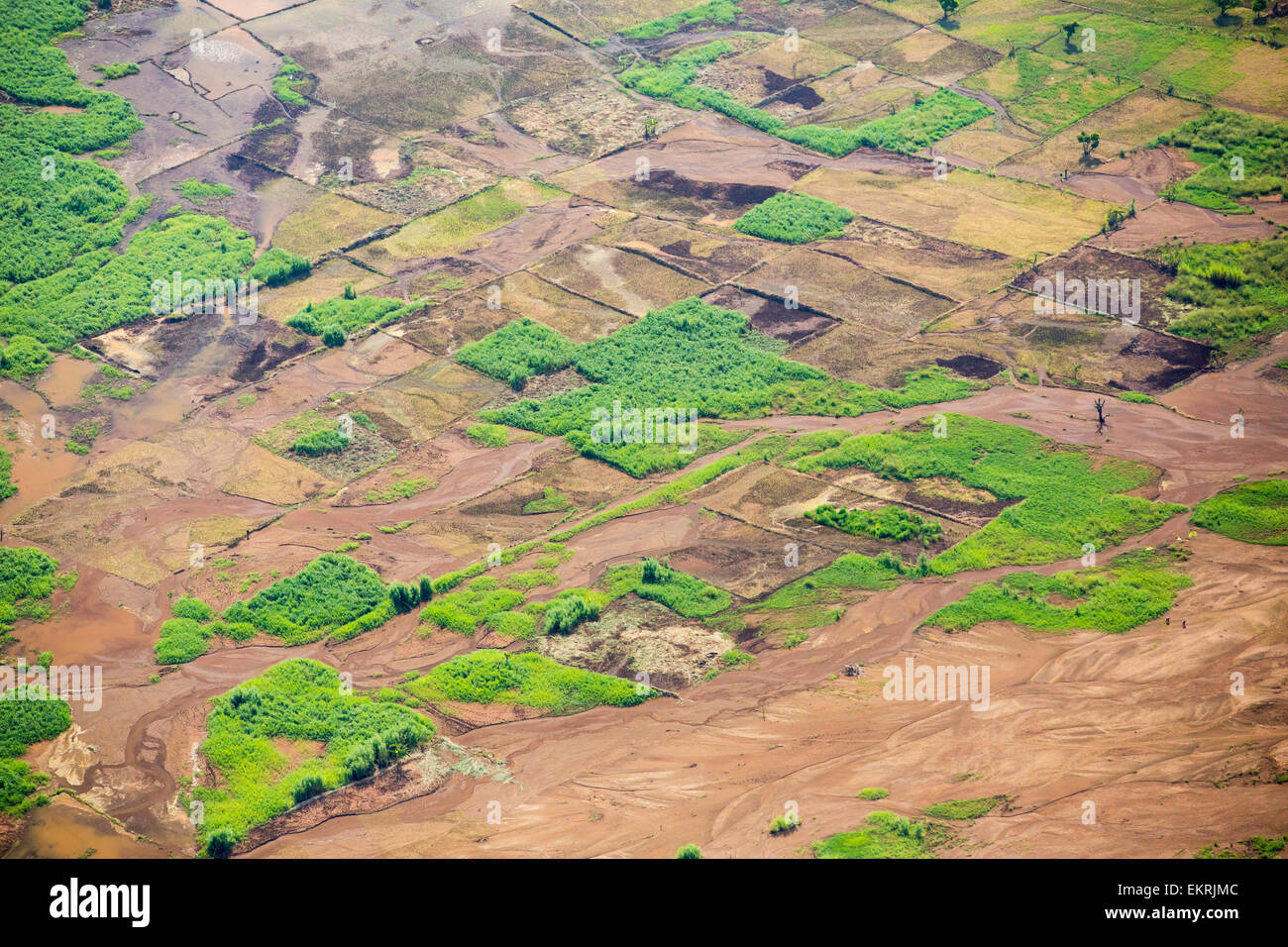 In mid January 2015, a three day period of excessive rain brought unprecedented floods to the small poor African - Stock Image