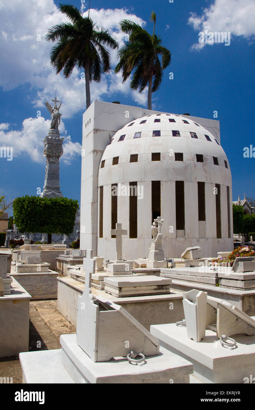 Cementerio de Cristobal Colon in Vedado,Havana,Cuba - Stock Image