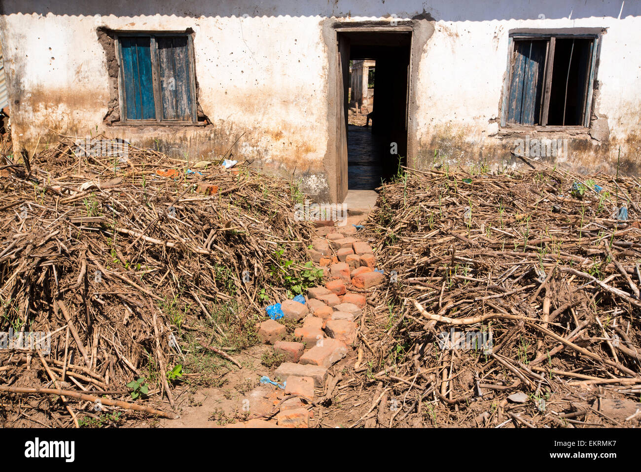 January 2015 saw a three day period of excessive rain which brought unprecedented floods to the small poor African - Stock Image