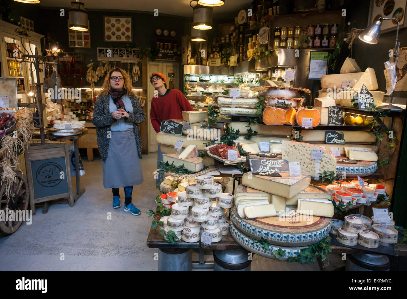 Cheese Shop, Borough Market - Stock Image