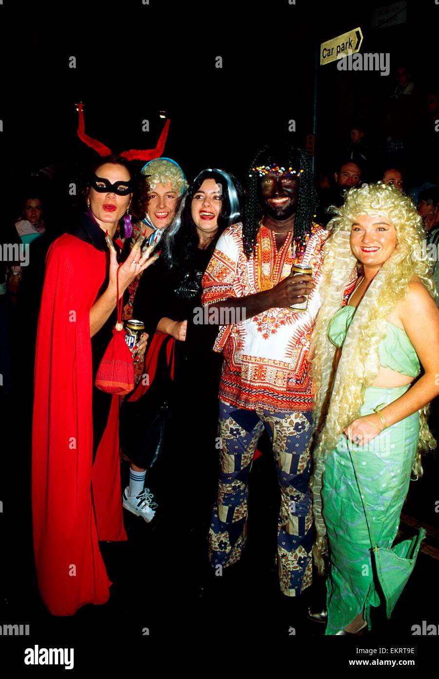 Derry, Ireland; Halloween Street Party In 1995 Stock Photo ...