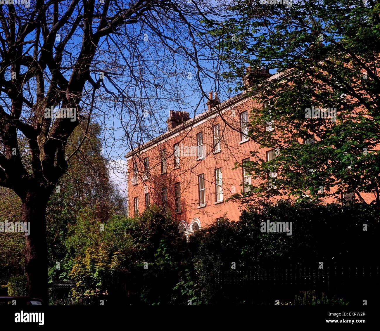 Georgian Terraces, Raglan Road, Dublin City, Ireland Stock Photo