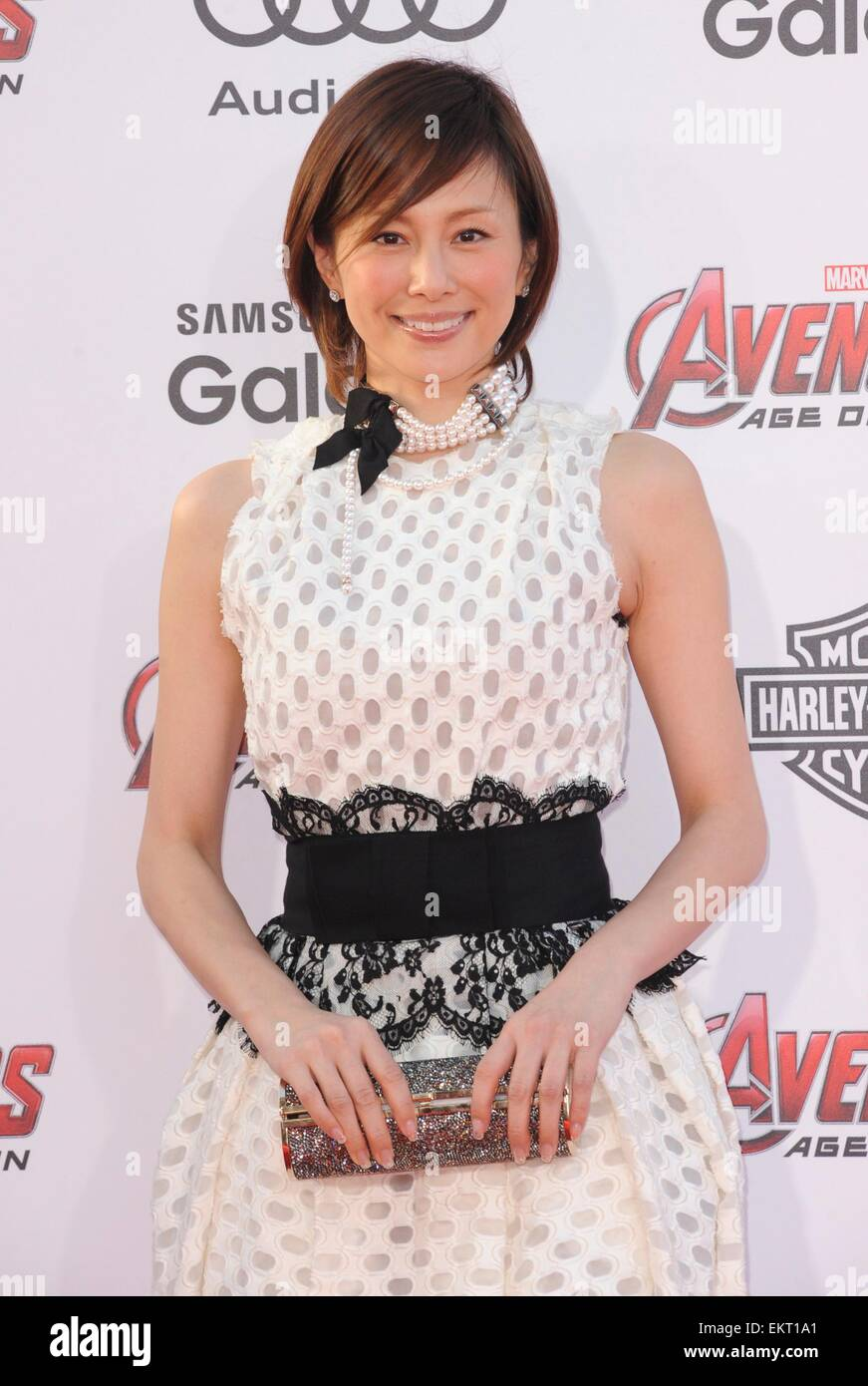 Ryoko Yonekura at arrivals for THE AVENGERS: AGE OF ULTRON Premiere, The Dolby Theatre at Hollywood and Highland - Stock Image