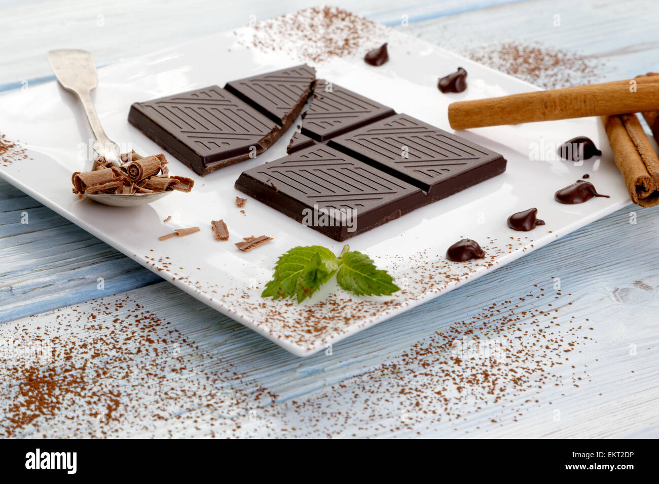 Dark chocolate - Stock Image