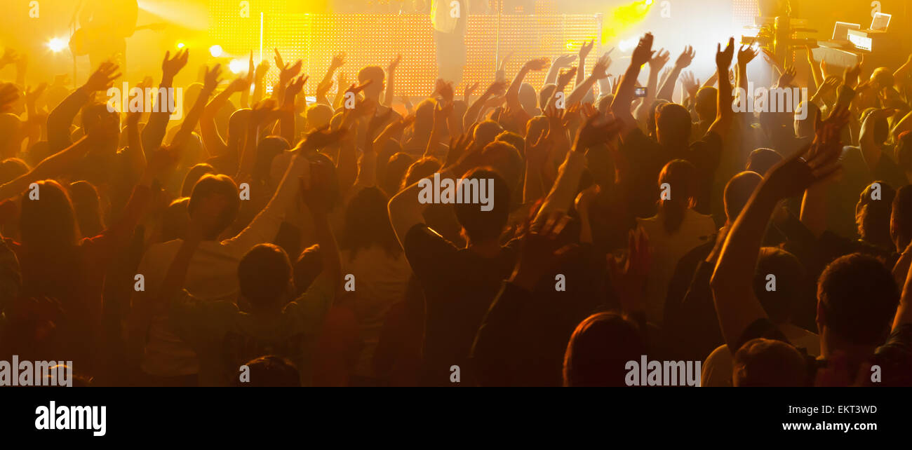 Concert Crowd Outside Arms Stock Photos & Concert Crowd Outside Arms ...