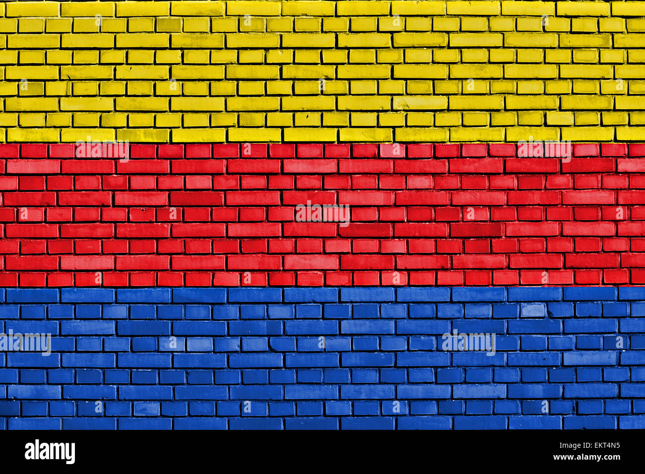 flag of North Holland painted on brick wall Stock Photo