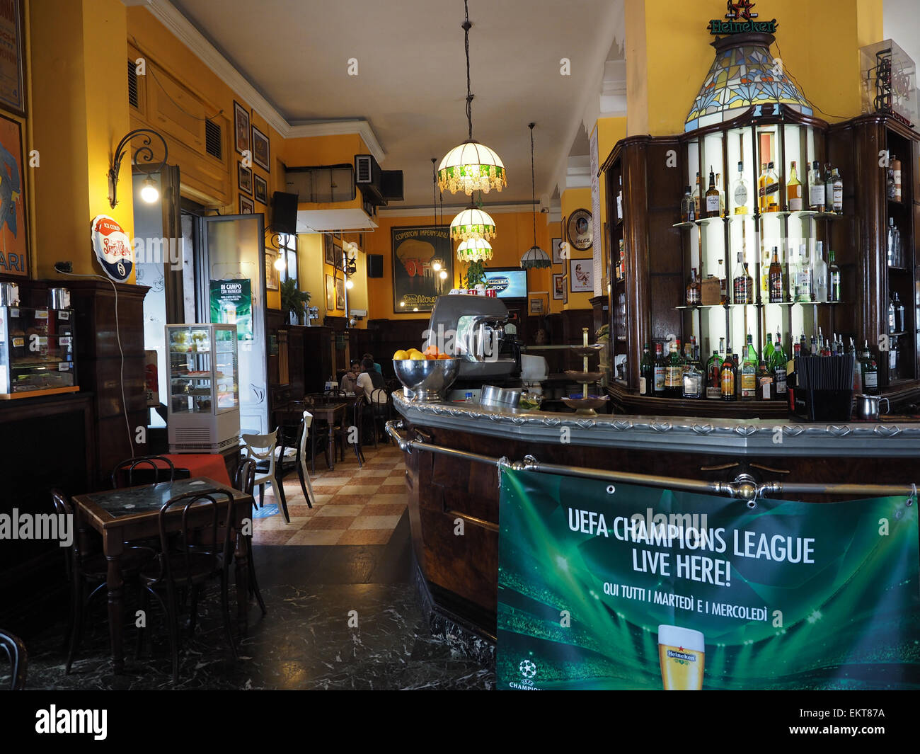 Bar Magenta cafe, Corso Magenta street, Milan, Lombardy, Italy, Europe - Stock Image