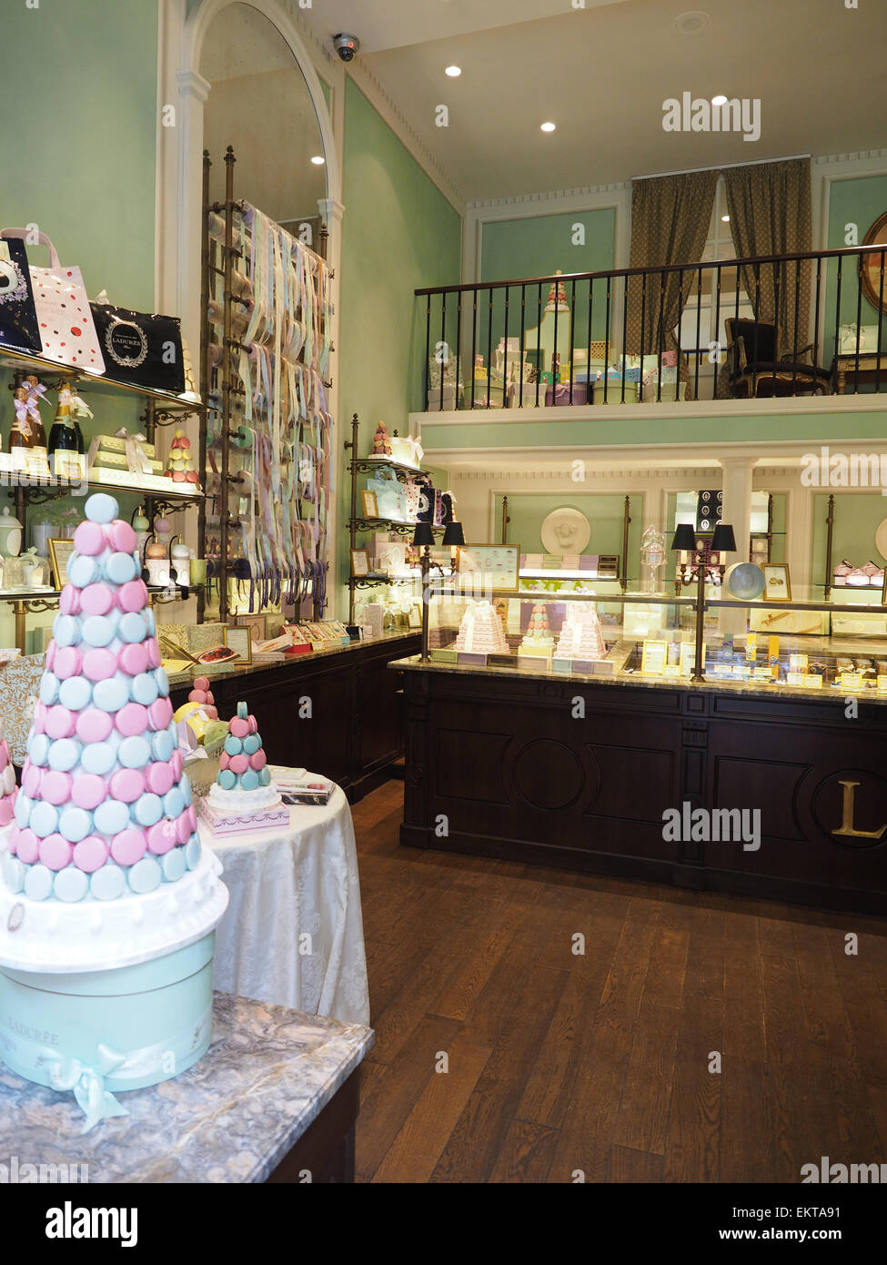 Ladurée Pastry shop, Milan, Lombardy, Italy, Europe - Stock Image