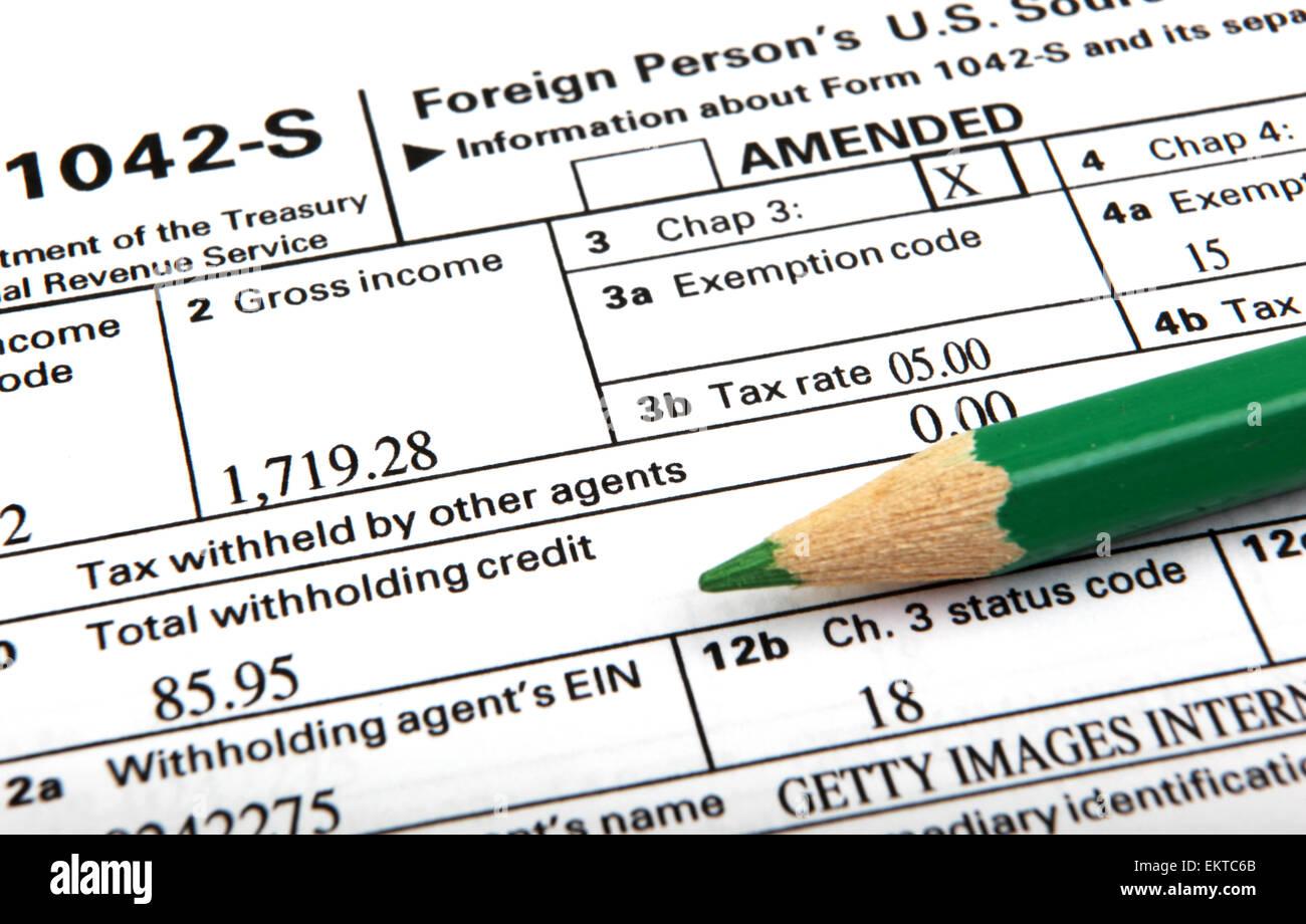 Tax Forms Stock Photo: 81056371 - Alamy