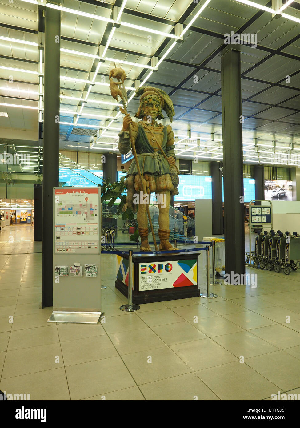 Linate airport, Expo 2015, Milan, Lombardy, Italy, Europe - Stock Image