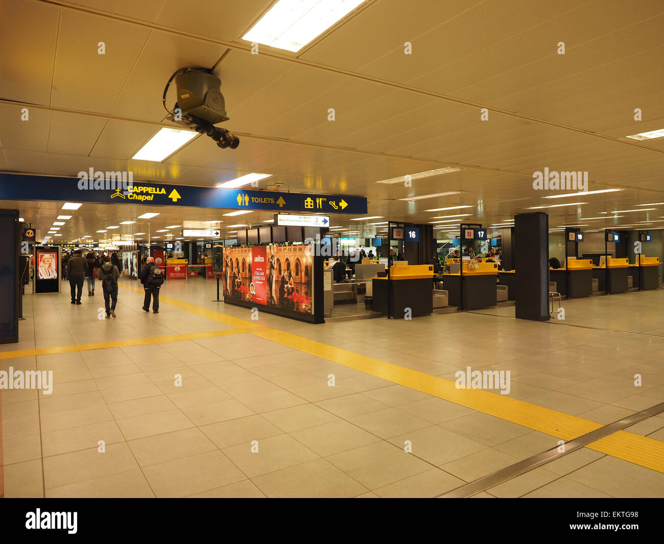 Linate airport, Milan, Lombardy, Italy, Europe - Stock Image