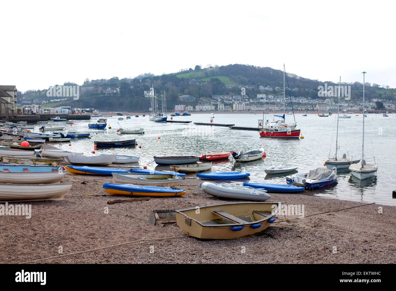 Boats at Teighmouth Quay Devon - Stock Image