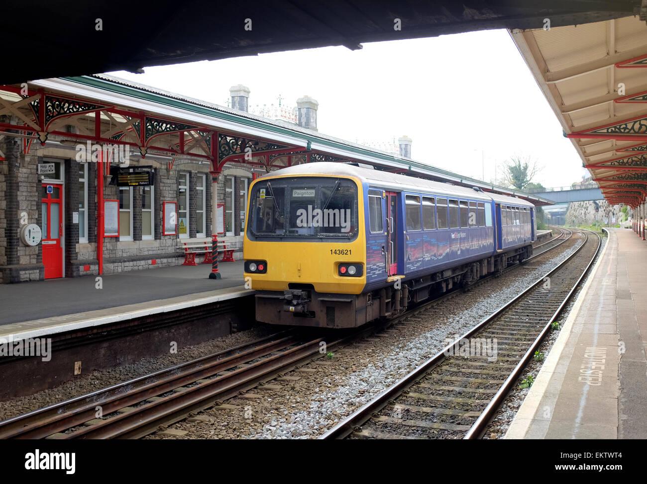 Teignmouth Railway Station Devon - Stock Image