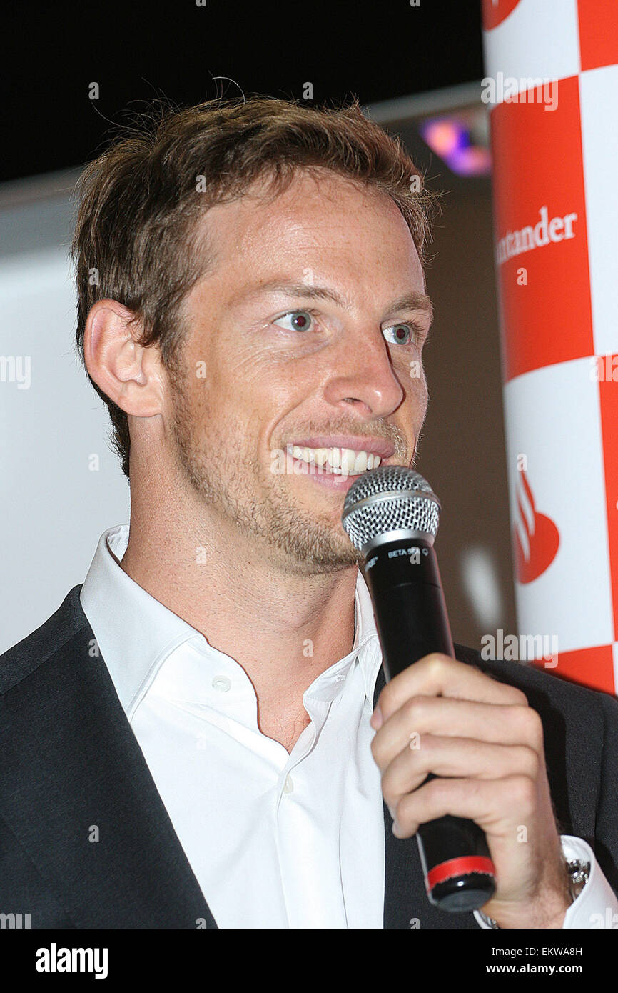 28.JUNE.2011. LONDON  FORMULA ONE DRIVER JENSON BUTTON ATTENDING THE DRIVEN TO DO BETTER LAUNCH AT THE GETTY IMAGES Stock Photo